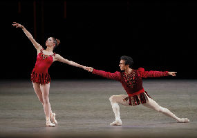 New York City Ballet Principal Dancers Megan Fairchild and Joaquin De Luz in Rubies from JEWELS